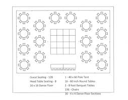 10 Person Round Table Seating Chart Template Tent Layouts Seating Capacity Chart Aa Party And Tent