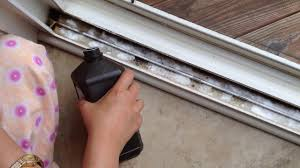how to clean sliding door or window tracks