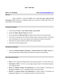 Java Web Developer Resume Sample Java Profile Resume Resume Work Template 38