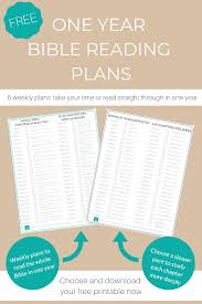 Free Bible Reading Chart Printable Bible Reading Plans Should You Read The Bible In One Year