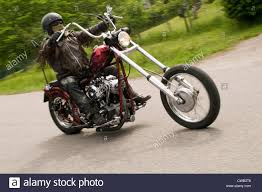 biker bikers ride harley davidson chopper v twin motorcycle stock