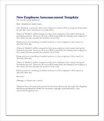new employee announcement new employee announcement letter transfer sample samples templates