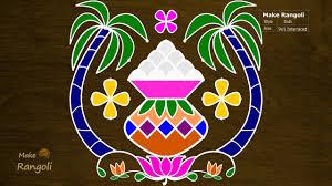 Bhogi Muggulu Designs With Dots Pongal Pot Kolam Bhogi Kundalu With 9x1 Dots Pongal Kolam Sankranthi Muggulu