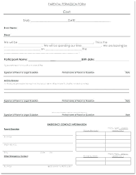 School Field Trip Permission Form Template Activity Consent Form Template