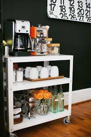 office coffee bar. How To Stock Your Own Coffee Cart Abeautifulmess.com Office Bar