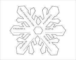 Snowflake Poetry Frame PDF Download 15 free snowflake template free printable word, pdf, jpeg on template pdf download