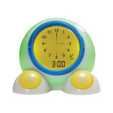 talking bedside alarm clock and night light