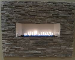 attractive installation of ventless gas fireplaces in rectangle shape fireplace on the tile wall