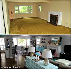 Raised Ranch Living Room Decorating Retro Ranch Reno Our Rancher Before After The Living Room