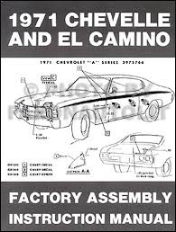 1971 chevelle wiring diagram manual reprint bu ss el camino 1971 chevelle el camino monte carlo gmc sprint assembly manual reprint