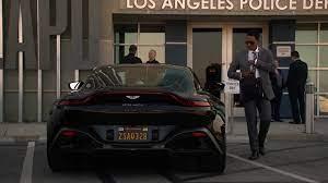 Aston Martin Vantage Black Roadster Car In L A S Finest S02e12 Coyote Ugly 2020