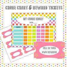 Chore Chart Incentives Free Chore Chart Reward Tickets Printable Simply Stacie