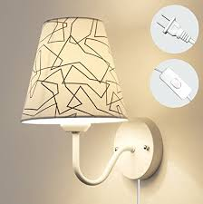 wall lighting fixtures living room. Kiven Nordic Modern Wall Lamp LED Minimalist Creative Bedroom Living Room  Corridor Fabric Sconces On/Off Lampshade Plug-In Switch Cord Bulbs Not Wall Lighting Fixtures Living Room V