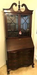 secretary with hutch desk antique mahogany secretary slant desk with hutch bookcase governor desk secretary desk