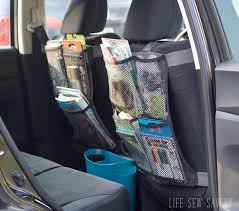 seat back organizer sewing tutorial for car organization