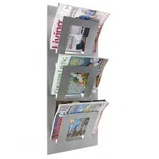 wall mounted three tier magazine rack by the metal house limited