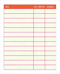 Sample Chore Chart 25 Documents In Pdf Word Excel