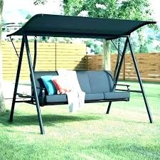 swing canopy 3 seat with garden patio replacement cover 75 x 45 chair frame swing canopy replacement
