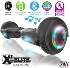 Black Hoverboard With Bluetooth And Lights Zivi Hoverboards With Bluetooth Speaker And Led Lights Black 6 5