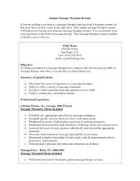Massage Therapist Resume Templates Free Resume Templates