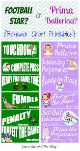 Football Star Or Prima Ballerina Behavior Chart Printables