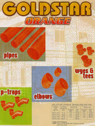 Orange Sanitary Pipes with Hub