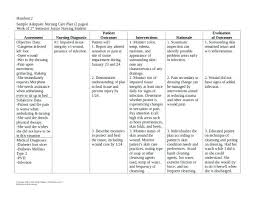 Nursing Care Plan Template Africanrecipes Info