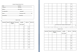 Blank Estimate Form Template Asepag Spreadsheet - Exterior paint estimate