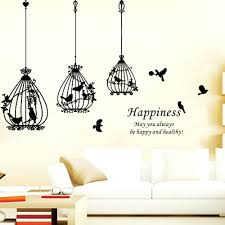 birdcage wall decals buy happiness bird cage removable wall sticker buy  happiness bird cage removable wall