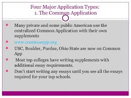 writing great college application essays that pop  8 four major application