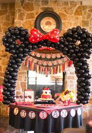Pink And Black Minnie Mouse Decorations Writing Our Story Jewels Breakfast With Minnie Mouse