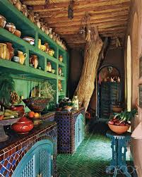 Mexican Kitchen Amazing Rustic Interior Of Mexican Kitchen Also Colorful Tiles In
