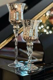 mercury glass candle holders 3 silver mercury glass pedestal candle holders silver mercury glass candle holders