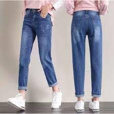<b>Fashion</b> Korean New <b>fashion navy blue</b> jeans pants 26-32 | Shopee ...