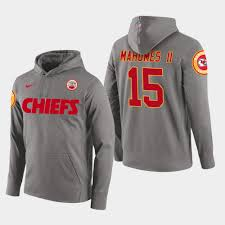Chiefs Player Patrick - Gray Hoodie Pullover Mahomes Ii