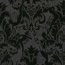 ... large Forest Muses Black Wallpaper, ...