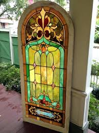 vintage stained glass windows value old church