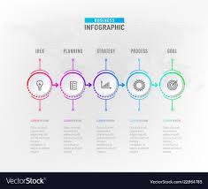 5 Element Chart Infograph 5 Steps Element Circle Graphic Chart