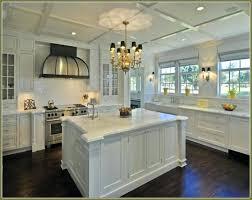 off white kitchen cabinets with dark floors mangostinme
