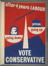 best politics banter images politics party british conservative party poster 1950 after 4 years labour
