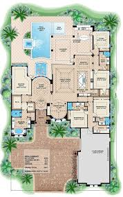 Mediterranean style house plan 4 beds 4 00 baths 5607 sq ft plan 27 454