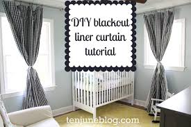 blackout shades baby room. DIY Blackout Curtain Tutorial Shades Baby Room