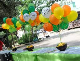 Ravishing Zebra Balloon Based Zoo Party Entrance Decor Idea For Kids Birthday Celebration Monkey themed party decor idea with cool backdrop for evergreen