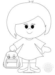 Bambina Con Zaino Disegni Da Colorare Tuttodisegnicom
