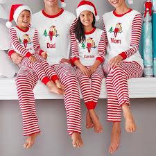2018 Family Christmas <b>Printing</b> Pajamas Red White Striped Father ...