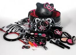 in addition to typical lipstick and lipgl the collection also includes cute accessories like makeup bags mirrors brushes and vanity kits cute