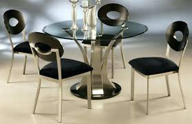 circle glass table halo ebony dining table with glass top