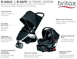 stroller frame for britax car seat b safe base travel system agile steel grey manual ready
