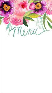 best ideas about menu templates fun wedding craftberry bush customizable watercolor printable menu craftberrybush