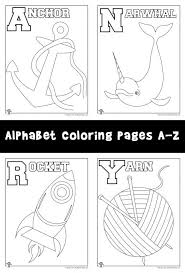 Small Picture New Alphabet Coloring Pages Set A Z Woo Jr Kids Activities